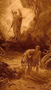 Gustave Dore's Adam and Eve Cast Out