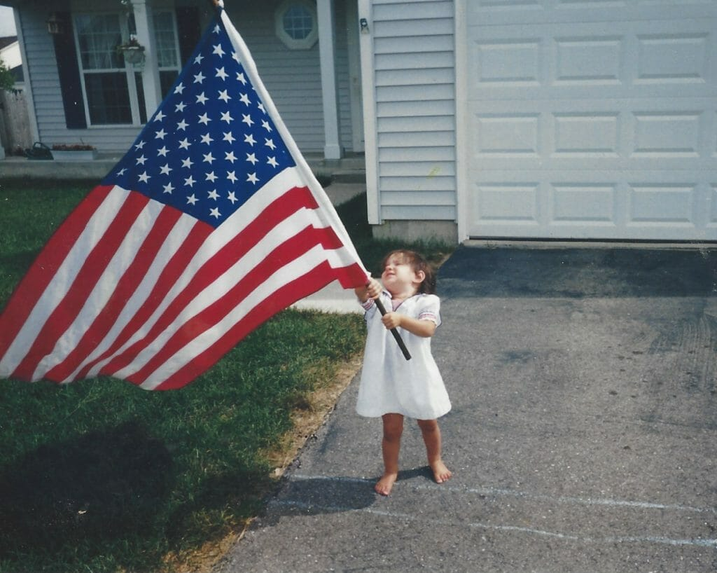 A picture worth a thousand words...my daughter on the one year anniversary of 9/11