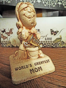 Close-up of World's Greatest Mom--No one's perfect!