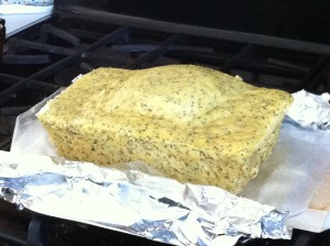 lemon poppyseed bread from the microwave