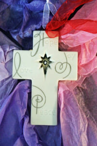 The Advent Cross--Hope, Love, Joy, and Peace